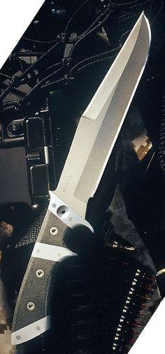 Entrek Silhouette Fixed Blade Knife, Micarta Handle, Plain, with Kydex Sheath EN-SILHOUETTE