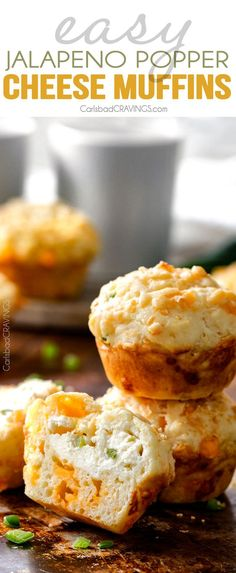Jalapeno Popper Cheese Muffins | www.carlsbadcravi...
