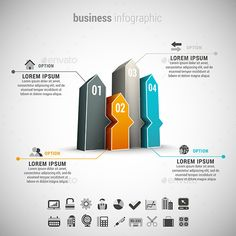 Business Infographic — Photoshop PSD #idea #arrow • Available here → https://graphicriver.net/item/business-infographic/10990054?ref=pxcr