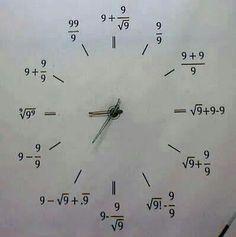 Math Works Clock