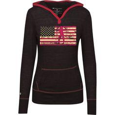 Female Bodybuilder Silhouette On The American Flag Junior Lightweight T-Shirt Hoodie