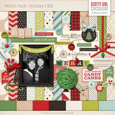 Celebrate the merriest of Christmases in the happiest place on earth! In traditional Christmas shades, Walt's Park: Holiday is perfect for your holiday memories that is guaranteed to tickle the child within! Coordinates with the Walt's Park &