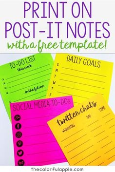 Did you know that you can print on post-it notes?? My organized life just got…