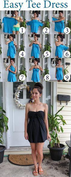 Grosgrain: Easy INSTANT Tee Shirt Dress!!!!