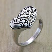 Discover unique handcrafted treasures. Every purchase will help UNICEF save and improve children's lives and help support talented artisans. Sterling silver cocktail ring, 'Heart Rhythm'