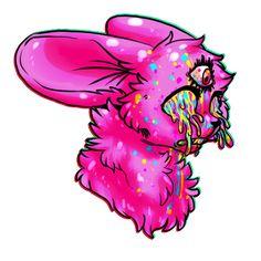 The Bomb by DoughnutWolf Candy Gore, Cute Art Styles, Goth Art, Furry Drawing, Anthro Furry, Creepy Art, Pop Surrealism, Pastel Art, Warrior Cats Art