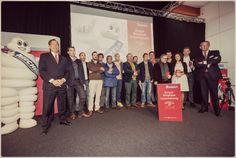 Uitreiking MICHELIN gids België Luxemburg - Horeca Expo 2013. 3 sterren behouden door Gert De Mangeleer en Joachim Boudens - Hertog Jan, Peter Goossens - Hof Van Cleve en Geert Van Hecke - De Karmeliet
