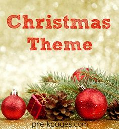 Christmas Theme Activities for Preschool and Kindergarten.  Literacy, Math, Printables, Arts and Crafts, and Classroom Party Tips!
