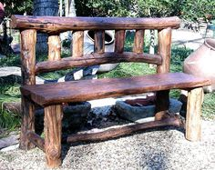 Smokey Mountain Rustic Bench - Take yer shoe's off, set a spell, y'all come back now y'hear!