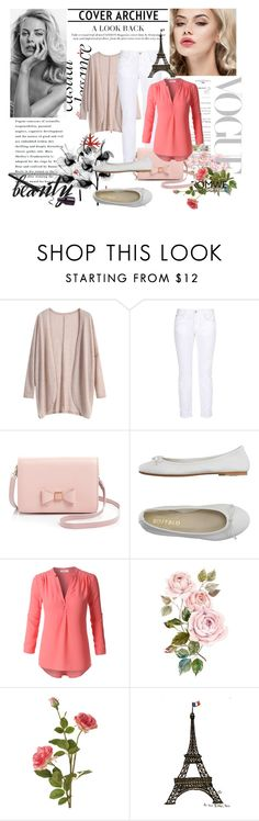 """Khaki Loose Knit Cardigan with Romwe"" by maidaa12 ❤ liked on Polyvore featuring STELLA McCARTNEY, Ted Baker, DIENNEG, LE3NO, OKA and WALL"