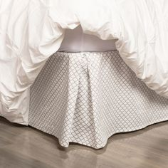 Bedroom inspiration and bedding decor | The Grey Cloud Bed Skirt Duvet Cover | Crane and Canopy