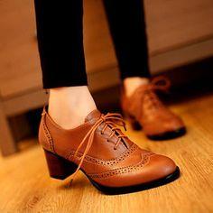 063532e07 R$ 100.44 50% de desconto|Meotina Sapatos Das Mulheres Saltos Grossos  Sapatos de Causalidade Lace Up Bombas Meados Saltos Do Vintage Esculpida  Sapatos ...