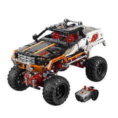 LEGO Technic: 4x4 Crawler (9398): Met zijn geavanceerde wielophanging kan de machine over grote rotsblokken heen rijden! De deuren van dit sterke voertuig kunnen worden geopend en je kunt het dak eraf halen. Bouw hem om tot een stoere 4x4 off-road truck!