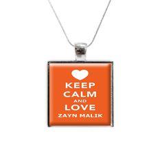 'Keep Calm and Love Zayn Malik' One Direction Glass Pendant and Necklace (kcco-1D-zayn) #google #zaynmalik