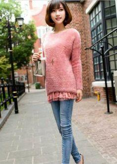 Korean Red Sweater