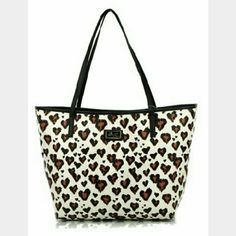 """Luv Betsey by Betsey Johnson Luv Betsey by Betsey Johnson leopard pvc tote. PU exterior, fabric lining. 15""""L x 10.5""""H x 5""""D, handle drop 9""""  Betsey Johnson Bags Totes"""
