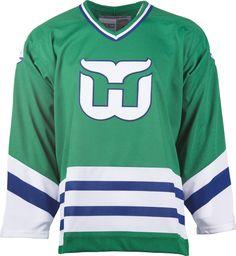 Hartford Whalers CCM Vintage 1979 Green Replica NHL Hockey Jersey Hartford  Whalers 157cd6137