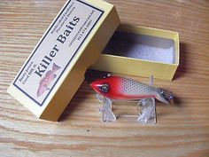 Killer Baits Heddon Style Tadpolly Glasseye Lure in the PP Allen Stripey Color