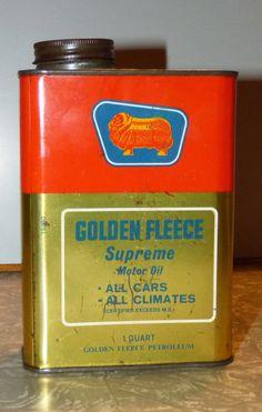 A Golden Fleece Duo Supreme 1 Pint motor oil can