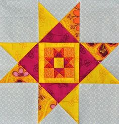 Ohio Star Quilt Block Tutorial - Make a star quilt pattern with this star block pattern.