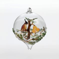 Partridge in a Pear Tree by Steve Scherer: Art Glass Ornament available at www.artfulhome.com