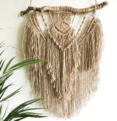 Meet little 'Verity' - jute macrame, boho chic wall hanging