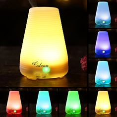 Aromatherapy Essential Oil Diffuser Codream 100ml Aroma Cool Mist Ultrasonic Humidifier with Waterless Auto Shut Off Quiet Operation and Automatic 7 Colors Changing LED Light BPA Free -- Check out this great product.