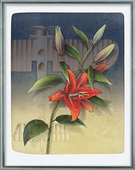 """Ernst Hanke: Picture """"Tiger lilly and Aircraft"""""""