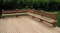 Cedar deck and bench in Bellevue