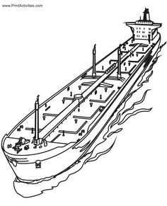 free printable ships coloring pages for children