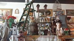Spring birdhouses and ladders