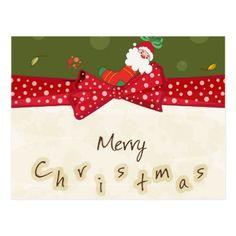 Adorable Christmas Postcard - Xmas ChristmasEve Christmas Eve Christmas merry xmas family kids gifts holidays Santa