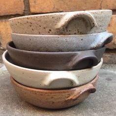 """Right glaze on the right kiln shelf and my glazes should do this. #nofilter #stoneware #ramekins #handmade #australianceramics"""
