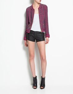 FRAYED JACKET - Collection - Woman - SALE - ZARA United States..in Aug People Style watch..originally listed as89.90--now 39.99...WOW!!!!