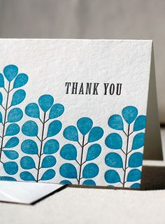 beautiful letterpressed cards by smockpaper