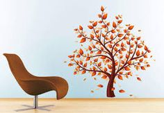 Image result for flower and tree wall paintings