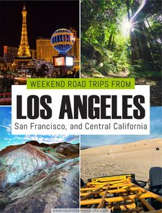 If you are looking for a list of the best weekend trips from Los Angeles and San Francisco, you've come to the right place! #visitcalifornia #californiaroadtrip #californiaweekendtrips #californiaweekendgetaways #losangelesweekendtrips #losangelesweekendgetaways #visitlosangeles #losangelestolasvegas #deathvalleycalifornia #yosemitenationalpark #santabarbaraweekendtrips #sanfranciscotolosangeles #bigsurcalifornia #sanfranciscoweekendtrips Visit California, California Travel, Travel Usa, Travel Tips, Canada Travel, Travel Abroad, Travel Guides, Visit Santa Barbara, Best Weekend Trips