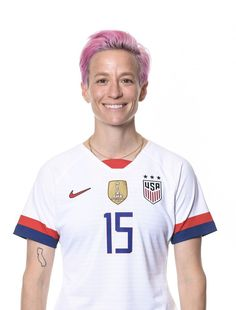 Megan Rapinoe #15, USWNT, Official FIFA Women's World Cup 2019 Portrait Nike Soccer, Soccer Usa, Soccer Cleats, Barcelona Soccer, Fc Barcelona, Alex Morgan Soccer, Cristiano Ronaldo Lionel Messi, Megan Rapinoe, Fifa Women's World Cup