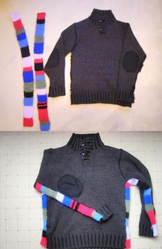 PlanetNathalie: DIY kids crafts and upcycling kids clothes. Gain width in a jumper DIY, easy