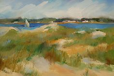 Glorious day on the Waterway by Donna Robertson, Oil