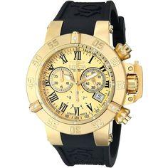 Invicta Subaqua Analog Display Swiss Quartz Black Watch ($240) ❤ liked on Polyvore featuring jewelry, watches, jewelry bracelets/watches, men, swiss quartz watches, invicta, invicta watches, invicta jewelry and analog wrist watch