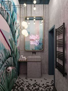 "DE&DE/Beauty salon ""Tricky mechanics"" on Behance Best Picture For home design art living rooms For Y Hair Salon Interior, Salon Interior Design, Interior And Exterior, Interior Ideas, Design Salon, Beauty Salon Design, Bar Interior, French Interior, Scandinavian Interior"