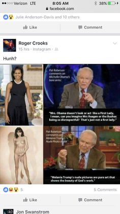 "When will this hypocritical, unchristian, Fuck just DIE! Can you say hypocrite! I'm sure good will greet him at the gates of heaven and say "" you made excuses for Trump and his whore wife and you expect entrance here, I don't think so""! Pat Robertson, Religion, Tabu, Michelle Obama, Social Justice, In This World, Equality, Acting, Shit Happens"