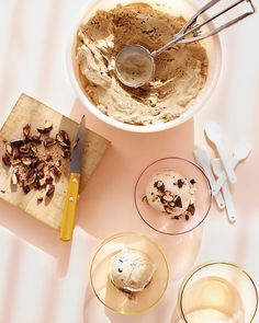 Coffee Ice Cream with Marcona Almonds Recipe