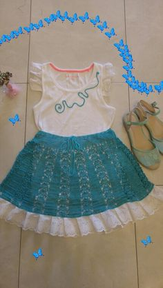 Dress for girl.crochet and sew