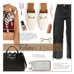 """Feline Fashion"" by elenaafiya ❤ liked on Polyvore featuring RE/DONE, Dolce&Gabbana, Charlotte Olympia, Gucci, Bobbi Brown Cosmetics and Puma"