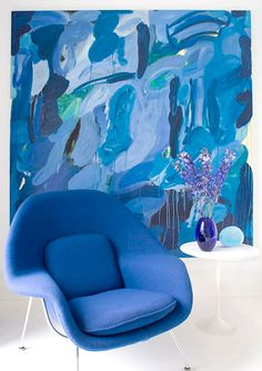 I really like the painting and color coordination. Jean-François Jaussaud - Hamptons House