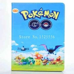 For ipad AIR2 Mobile Game Pokemons Go Case PU Leather Case Cover Team Valor Mystic Instinct protection cover