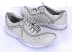Clarks Wave 10M  Lace Up Stone Suede Athletic Walking Casual Tennis Shoes  #Clarks #Walking