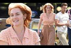 Kate Winslet and Justin Timberlake on set of Woody Allen film in NY